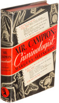 Books:Mystery & Detective Fiction, Margery Allingham. Mr Campion: Criminologist. New York: The Crime Club, Inc., 1937. First American edition....