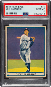 1941 Play Ball Joe DiMaggio #71 PSA Gem Mint 10