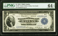Fr. 740 $1 1918 Federal Reserve Bank Note PMG Choice Uncirculated 64 EPQ