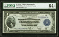 Large Size:Federal Reserve Bank Notes, Fr. 736 $1 1918 Federal Reserve Bank Note PMG Choice Uncirculated 64 EPQ.. ...