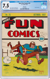 More Fun Comics #25 Billy Wright Pedigree (DC, 1937) CGC VF- 7.5 Off-white pages
