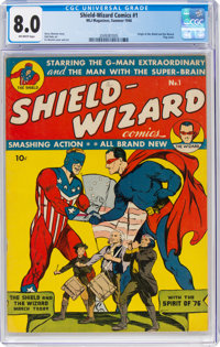 Shield-Wizard Comics #1 (MLJ, 1940) CGC VF 8.0 Off-white pages