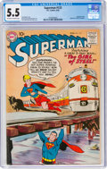 Silver Age (1956-1969):Superhero, Superman #123 (DC, 1958) CGC FN- 5.5 Off-white to white pages....