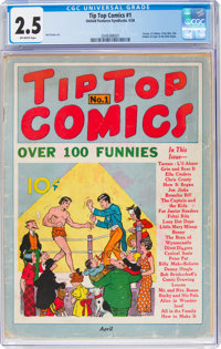 Tip Top Comics #1 (United Feature Syndicate, 1936) CGC GD+ 2.5 Off-white pages