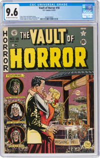 Vault of Horror #18 (EC, 1951) CGC NM+ 9.6 Off-white to white pages