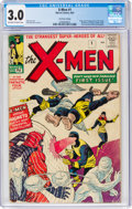 Silver Age (1956-1969):Superhero, X-Men #1 UK Edition (Marvel, 1963) CGC GD/VG 3.0 Off-white to white pages....