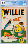 Golden Age (1938-1955):Humor, Willie Comics #22 (Marvel, 1950) CGC VF- 7.5 Off-white pages....