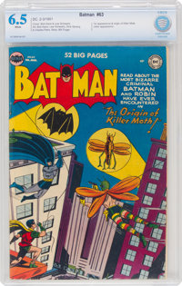 Batman #63 (DC, 1951) CBCS FN+ 6.5 White pages