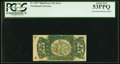 Fractional Currency:Third Issue, Fr. 1297 25¢ Third Issue Inverted Surcharge PCGS About New 53PPQ.. ...