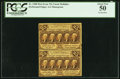Fractional Currency:First Issue, Fr. 1280 25¢ First Issue Vertical Pair PCGS About New 50.. ...