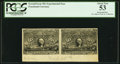 Fractional Currency:Second Issue, 50¢ Second Issue Experimental Horizontal Pair PCGS About New 53.. ...