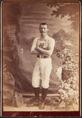 Baseball Collectibles:Photos, 1870's New York Mutual Green Stockings Jack Nelson (?) Cabinet Photo....