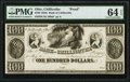 Chillicothe, OH- Bank of Chillicothe $100 18__ UNL Wolka 0341-52 Proof PMG Choice Uncirculated 64 EPQ
