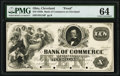 Obsoletes By State:Ohio, Cleveland, OH- Bank of Commerce $10 18__ G16 Wolka 0700-16 Proof PMG Choice Uncirculated 64.. ...