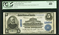 National Bank Notes:New York, Great Neck Station, NY - $5 1902 Plain Back Fr. 609 The First National Bank of Great Neck Ch. # 12659 PCGS Extremely F...