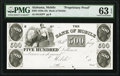 Mobile, AL- Bank of Mobile $500 18__ G42 Rosene 183-16 Proprietary Proof PMG Choice Uncirculated 63 EPQ