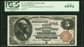 National Bank Notes:Michigan, Plymouth, MI - $5 1882 Brown Back Fr. 472 The First National Exchange Bank Ch. # 4649 PCGS Gem New 65PPQ.. ...
