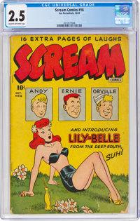 Scream Comics #16 (Ace Periodicals, 1947) CGC GD+ 2.5 Cream to off-white pages