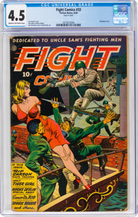 Fight Comics #33 (Fiction House, 1944) CGC VG+ 4.5 Cream to off-white pages