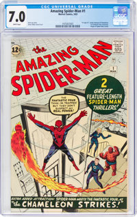 The Amazing Spider-Man #1 (Marvel, 1963) CGC FN/VF 7.0 White pages