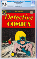 Golden Age (1938-1955):Superhero, Detective Comics #94 Double Cover (DC, 1944) CGC NM+ 9.6 Off-white to white pages....