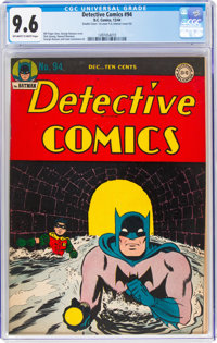 Detective Comics #94 Double Cover (DC, 1944) CGC NM+ 9.6 Off-white to white pages
