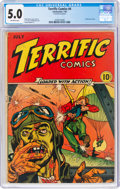 Golden Age (1938-1955):War, Terrific Comics #4 (Continental Magazines, 1944) CGC VG/FN 5.0 Off-white pages....