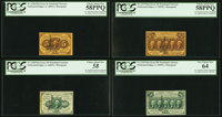 Courtesy Autographed Set - Fr. 1228 5¢ First Issue PCGS Choice About New 58PPQ, Fr. 1240 10¢ First Issue PCGS...