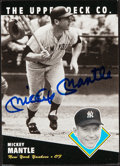 Autographs:Sports Cards, 1994 Upper Deck All-Time Heroes Mickey Mantle #100 Autogra...