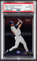 Baseball Cards:Singles (1970-Now), 2000 Fleer Mystique Masterpiece Troy Glaus #82 PSA Gem Mint 10 - One of One....