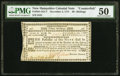 Colonial Notes:New Hampshire, New Hampshire November 3, 1775 30s Contemporary Counterfeit PMG About Uncirculated 50.. ...