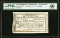 Colonial Notes:New Hampshire, New Hampshire November 3, 1775 40s Contemporary Counterfeit PMG Extremely Fine 40.. ...