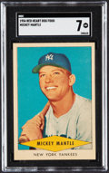 Baseball Cards:Singles (1950-1959), 1954 Red Heart Mickey Mantle SGC NM 7....