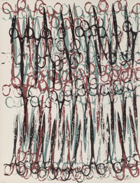 Arman (1928-2005) Gothic, 1977 Lithograph in colors on Arches paper 22 x 17 inches (55.9 x 43.2 cm) (sheet) Ed. 218/