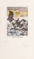 Prints & Multiples, Salvador Dalí (1904-1989). Untitled, from Les Caprices de Goya, 1977. Etching and aquatint in colors on Rives BFK pa...
