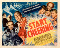 Movie Posters:Comedy, Start Cheering (Columbia, 1938). Fine+ on Paper. H...