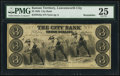 Obsoletes By State:Kansas, Leavenworth City, KS- City Bank $3 Nov. 1, 1856 G6a Remainder PMG Very Fine 25.. ...