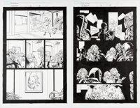 Tom Raney and Scott Hanna Secret Invasion: Inhumans #3 Story Pages 12 and 14 Original Art Group of 2 (Marvel Comic... (T...