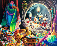 Carl Barks Dangerous Discovery Signed Limited Edition Lithograph Print #249/350 (Another Rainbow, 1993)