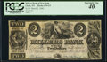 Obsoletes By State:New York, Clyde, NY- Millers Bank of New York $2 Mar. 2, 1840 G4 PCGS Extremely Fine 40.. ...