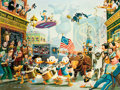 Memorabilia:Disney, Carl Barks July Fourth in Duckburg Signed Limited Edition Lithograph Print #314/350 (Another Rainbow, 1998)....