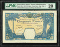 World Currency, French West Africa Banque de l'Afrique Occidentale 50 Francs 12.6.1924 Pick 10Eb PMG Very Fine 20.. ...