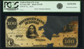 Saint Louis, MO- Southern Bank of St. Louis $100 18__ G58 Proof PCGS Genuine, hole punch cancelled