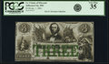 Jefferson City, MO- State of Missouri (Secessionist) $3 Jan. 1, 1862 Cr. 9 PCGS Very Fine 35