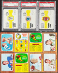 Football Cards:Sets, 1966 Topps Football & Funny Rings Complete Sets (2). ...