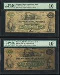 World Currency, Canada Moncton, NB- Westmorland Bank 2 Dollars Aug...