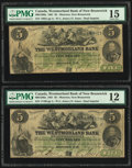 World Currency, Canada Moncton, NB- Westmorland Bank 5 Dollars Aug...