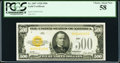Small Size:Gold Certificates, Fr. 2407 $500 1928 Gold Certificate. PCGS Choice About New 58.. ...