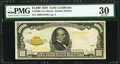 Small Size:Gold Certificates, Fr. 2408 $1,000 1928 Gold Certificate. PMG Very Fine 30.. ...