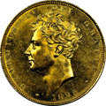 Great Britain: George IV gold Sovereign 1825 MS61+ NGC